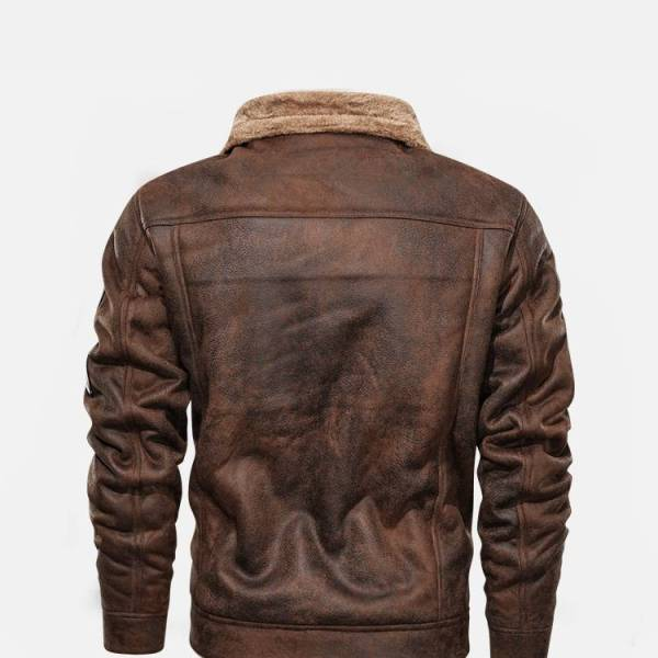 Built-in leather fur garment