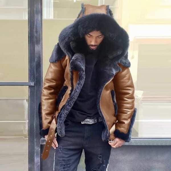 Men's hooded jacket coat