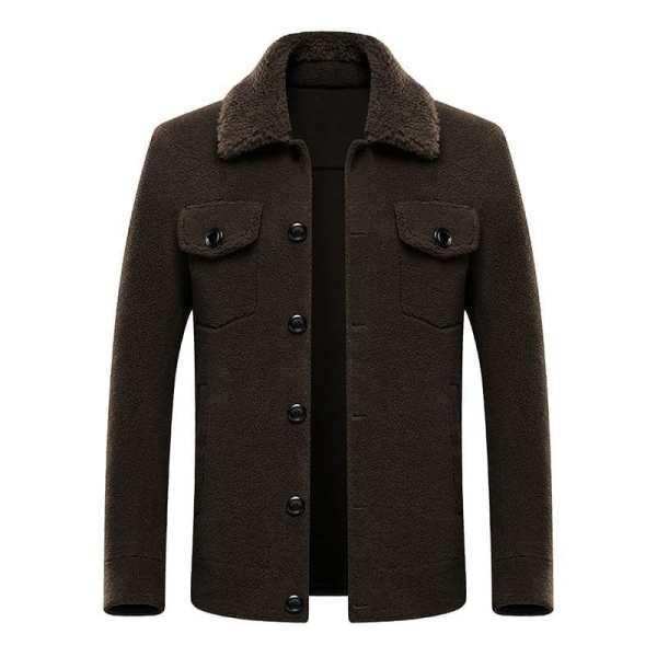 Elegante chaqueta de hombre estilo oveja