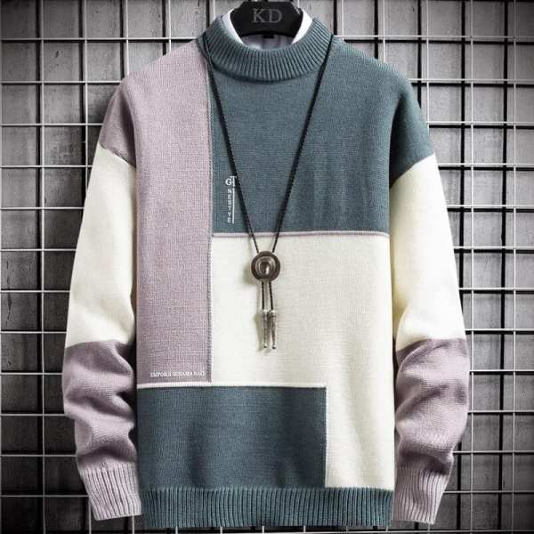 High-necked sweater
