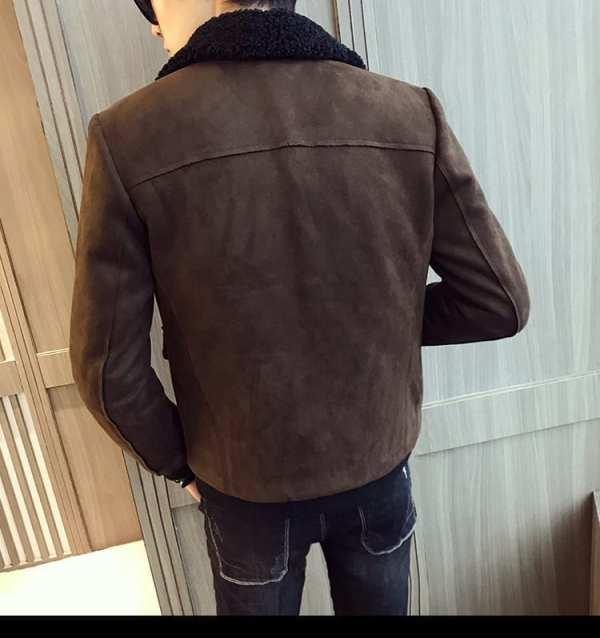 Suede slim jacket