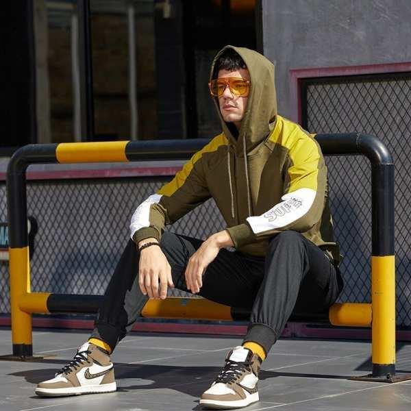 Sudadera original con capucha streetwear para hombres