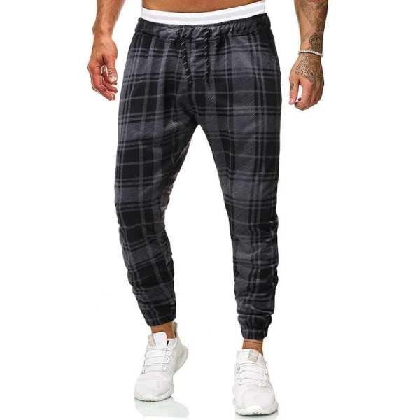 Pantalones de chándal a cuadros para hombre