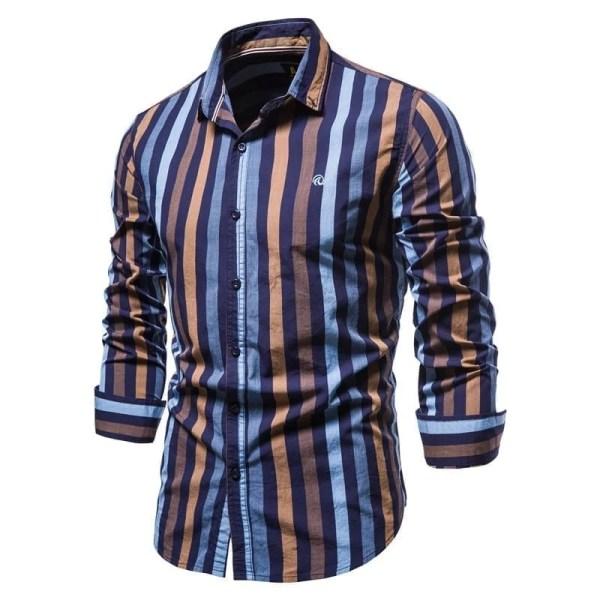Camisa multicolor de rayas para hombre