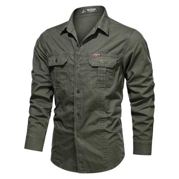 Men's casual long-sleeved shirt
