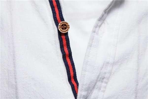 Chemise légère en lin et coton pour hommes