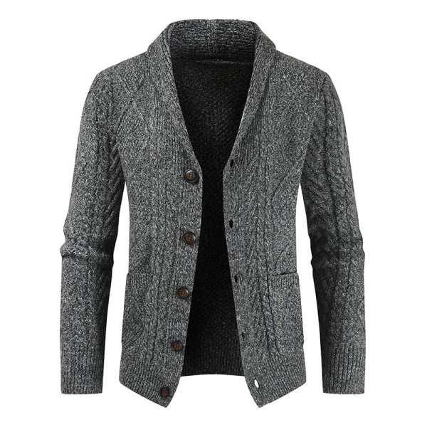 Gilet cardigan tricoté avec bouton pour hommes