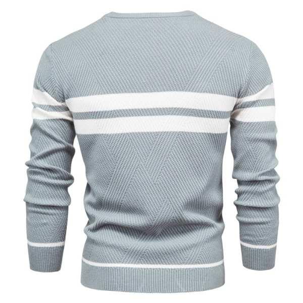 Suéter de punto de manga larga y cuello redondo para hombres