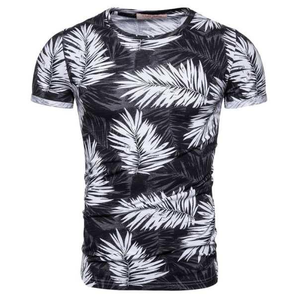 T-shirt imprimé slim fit col rond hommes
