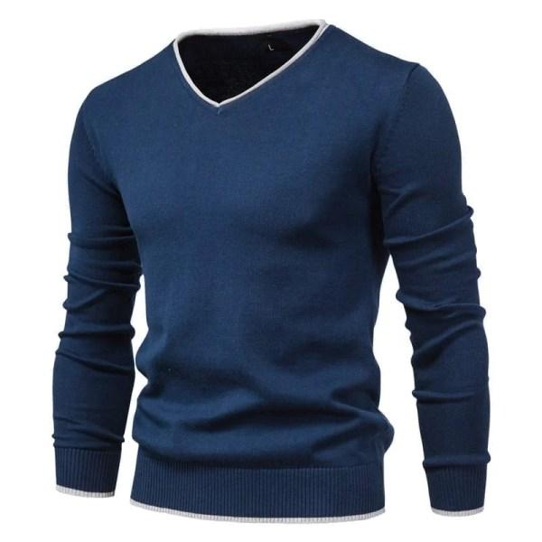 Suéter casual de cuello en V para hombre