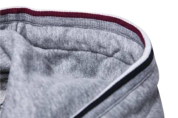 Men's cotton zip-up single hoodie