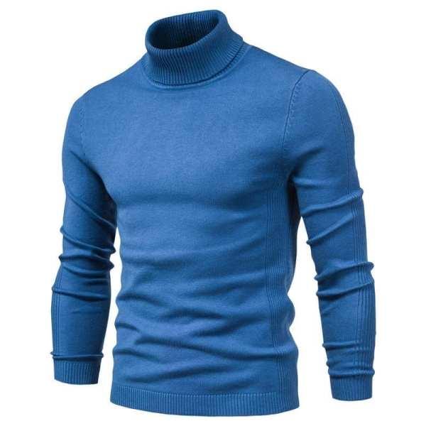Casual slim turtleneck sweater for men