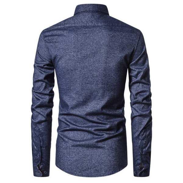 Elegant cotton shirt long sleeves men
