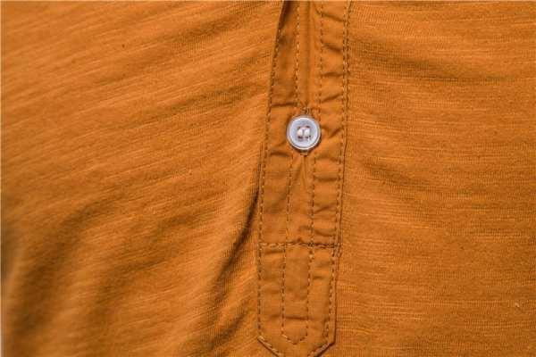 T-Shirt col montant manches courtes pour hommes