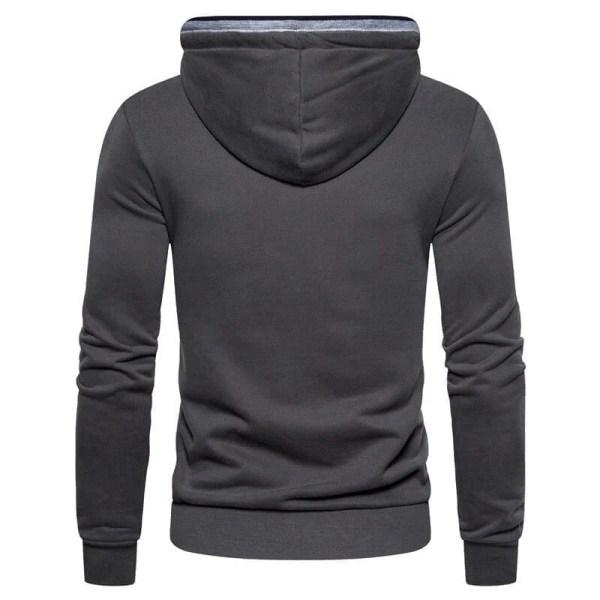 Men's solid-coloured hoodie shirt