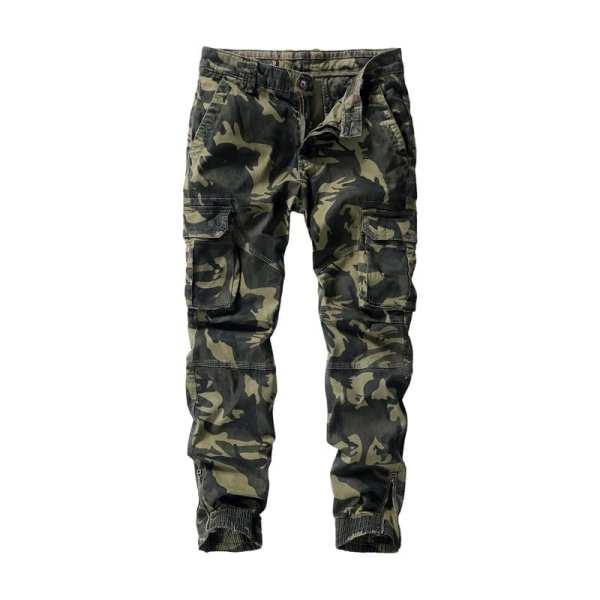 Pantalon cargo style jogging camouflage hommes