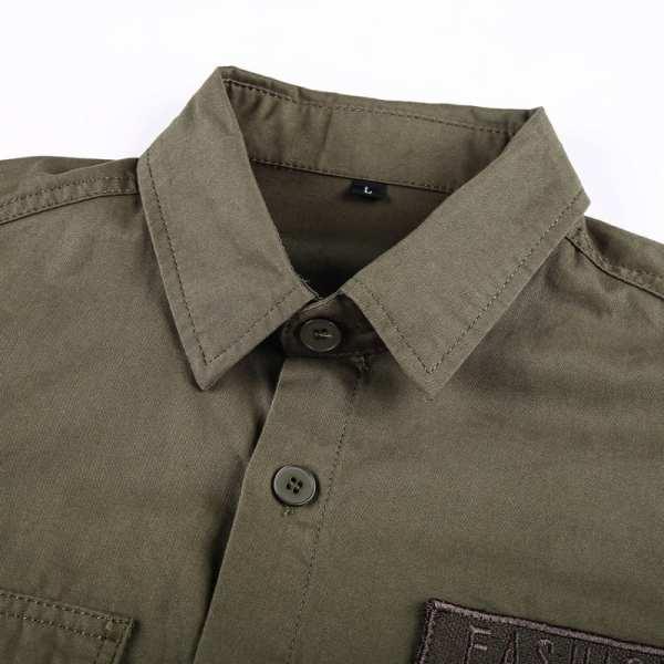 Men's military-style shirt