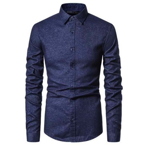 Casual chic long-sleeved shirt for men