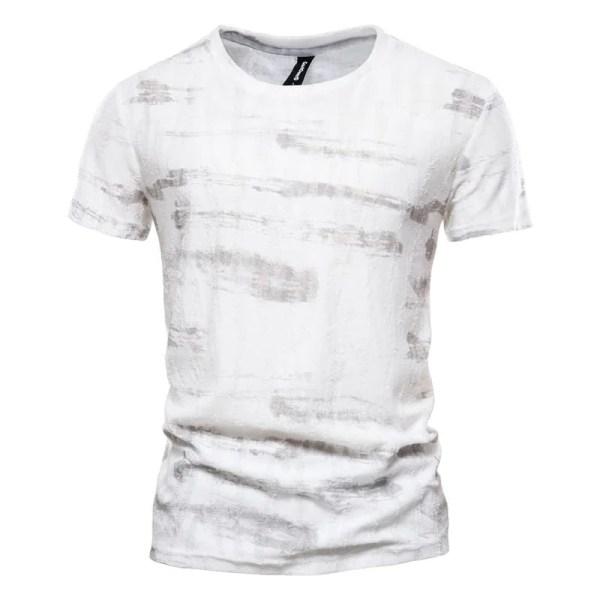 Men's round-neck printed T-shirt