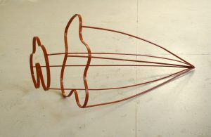 Somewhere 2015 metaal lak 98 x 53 x 40 cm