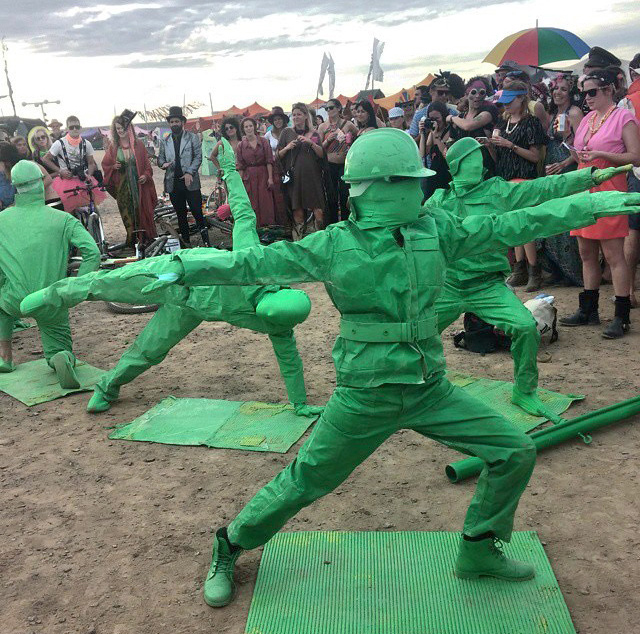 Look At These Little Green Army Men Doing Yoga Pee Wees Blog