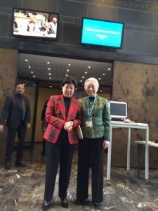 Avec la présidente de l'OMS Margaret CHAN à Géneve