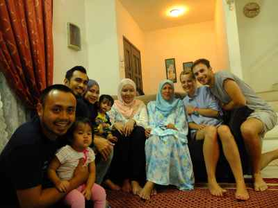 Firzah's family, and home!