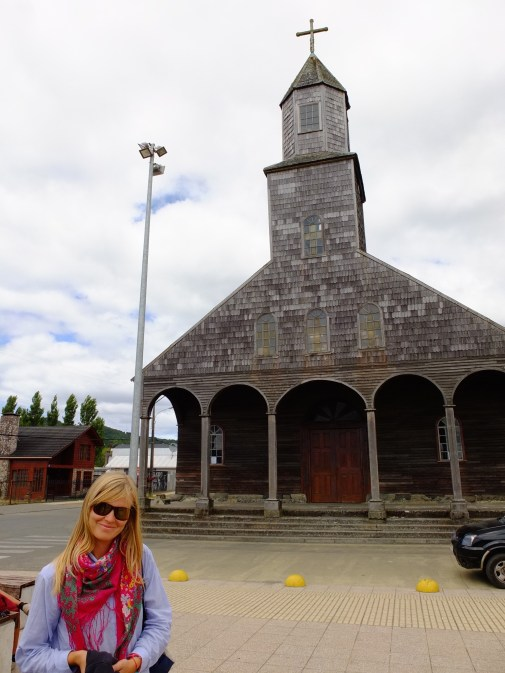 The oldest Chiloe church, in Achao, Quinchao Island