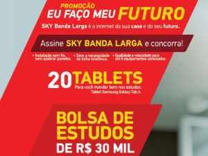 Promoção Sky Banda Larga eu faço meu Futuro