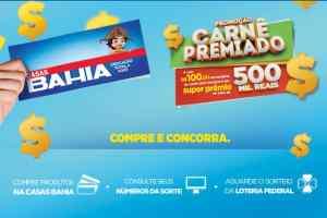 Promoção Casas Bahia carnê premiado
