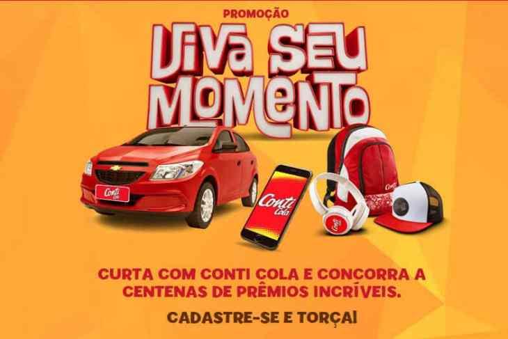 promoção Cont Cola viva seu momento