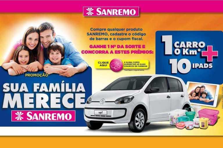 Promoção Sanremo sua família merece
