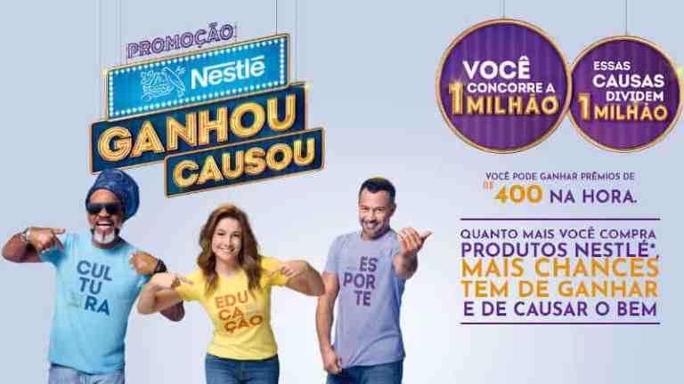 Promoção Nestlé 2019 Ganhou Causou