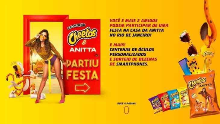 Promoção Cheetos e Anitta 2020 partiu festa