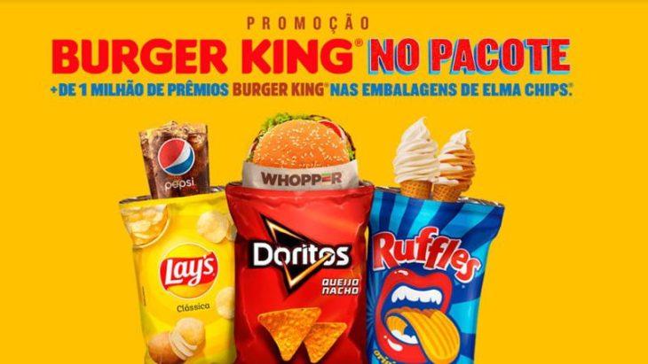 Promoção Burger King No Pacote Elma Chips 2020