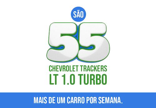 Promoção Gazin 55 anos o total de 55 SUV`s Chevrolet Tracker