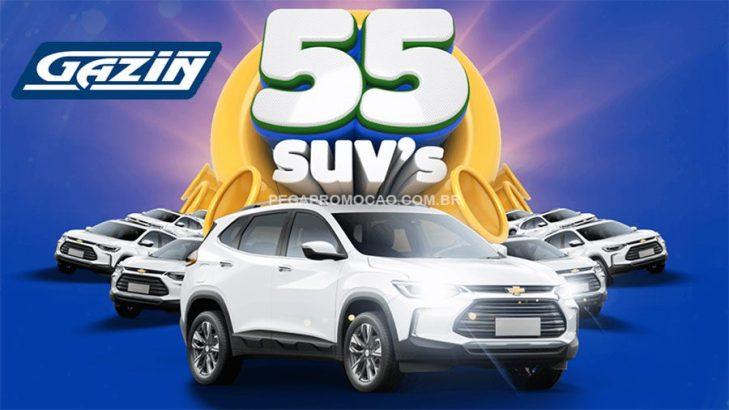 Promoção Gazin 55 anos: Sorteio de 55 SUVs
