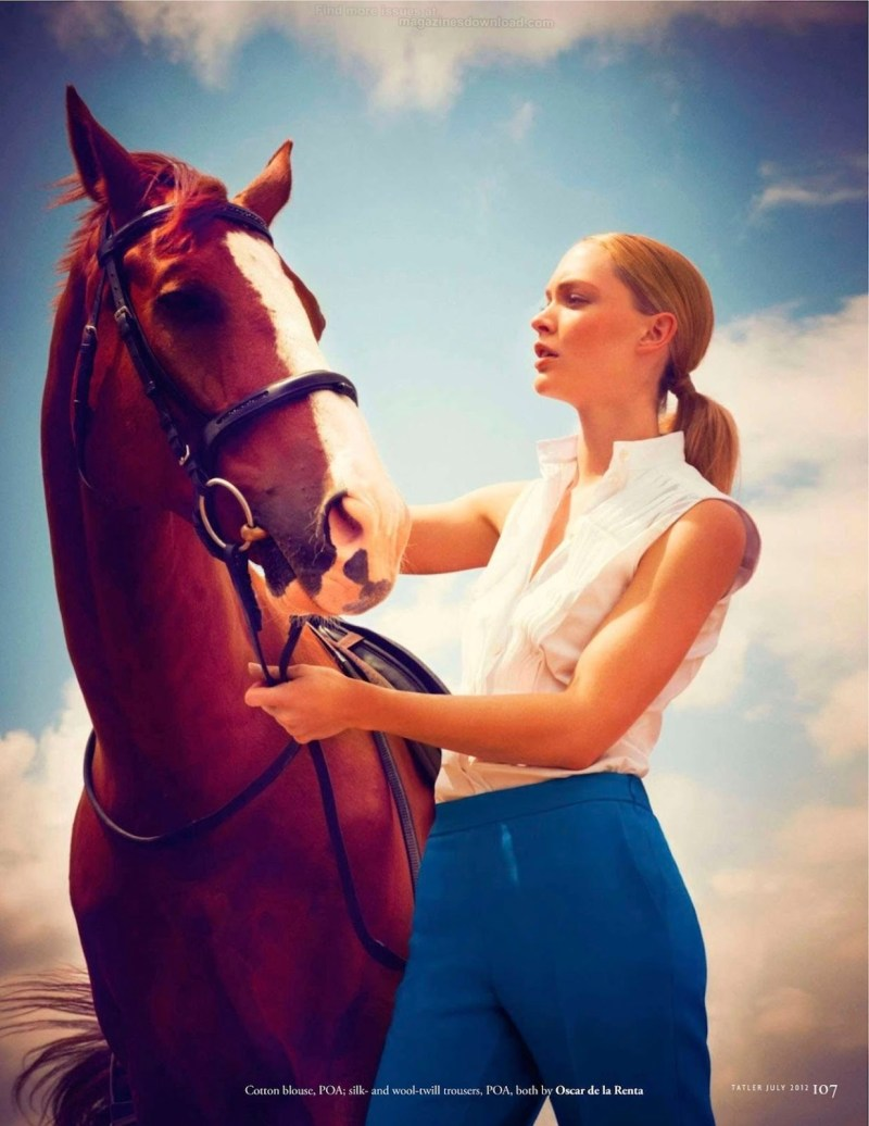 www.pegasebuzz.com | Heidi Harrington-Johnson by James Meakin for Tatler UK, july 2012