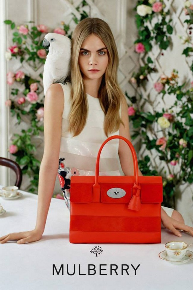 www.pegasebuzz.com | Cara Delevingne by Tim Walker for Mulberry SS 2014