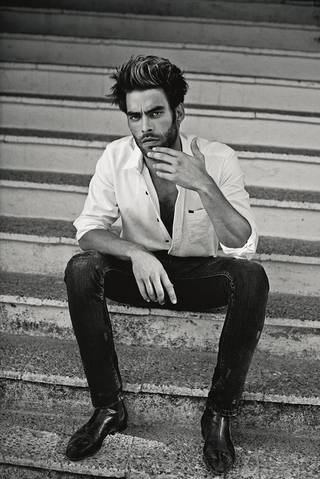 www.pegasebuzz.com | Jon Kortajarena by Damon Baker for S Moda Magazine, septiembre 2014