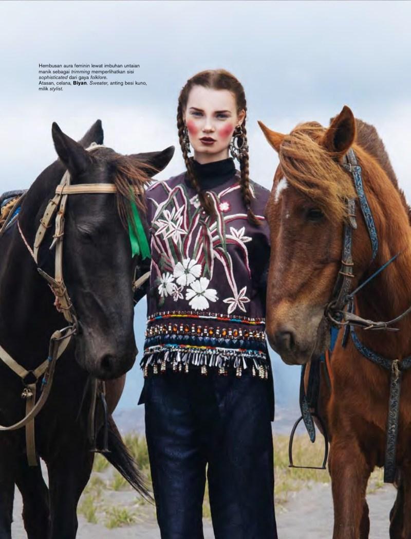 www.pegasebuzz.com | Kseniya Shapovalova by Nicoline Patricia Malina for Harper's Bazaar Indonesia, september 2014