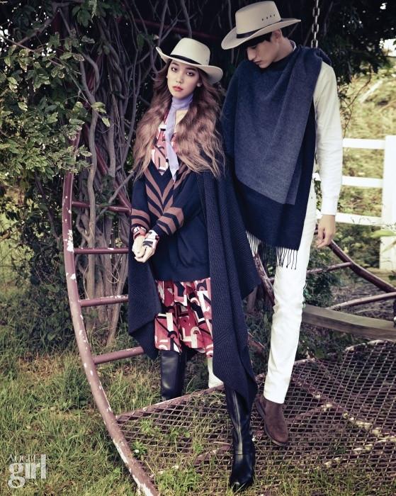 www.pegasebuzz.com | Lee Ho Jung and Kim Taehwan by Tae Woo for Vogue Girl Korea, november 2014