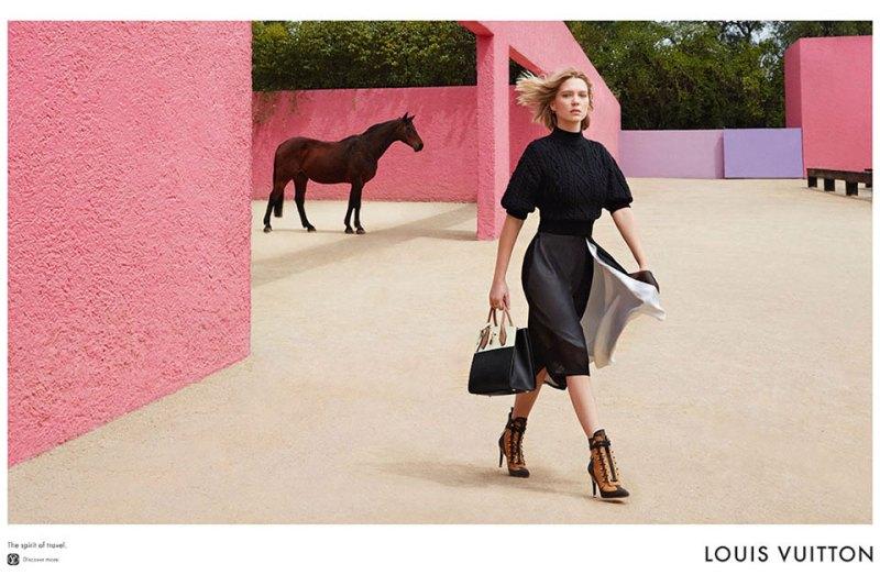 www.pegasebuzz.com | Léa Seydoux by Patrick Demarchelier for Louis Vuitton, summer 2016