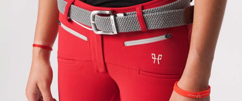 www.pegasebuzz.com | Horse Pilot : pantalon XBalance rouge femme