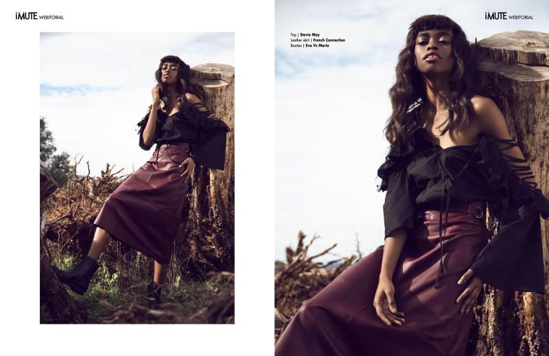 www.pegasebuzz.com | Anne Barreto by Irene Suarez for iMute Magazine, black horse 2017