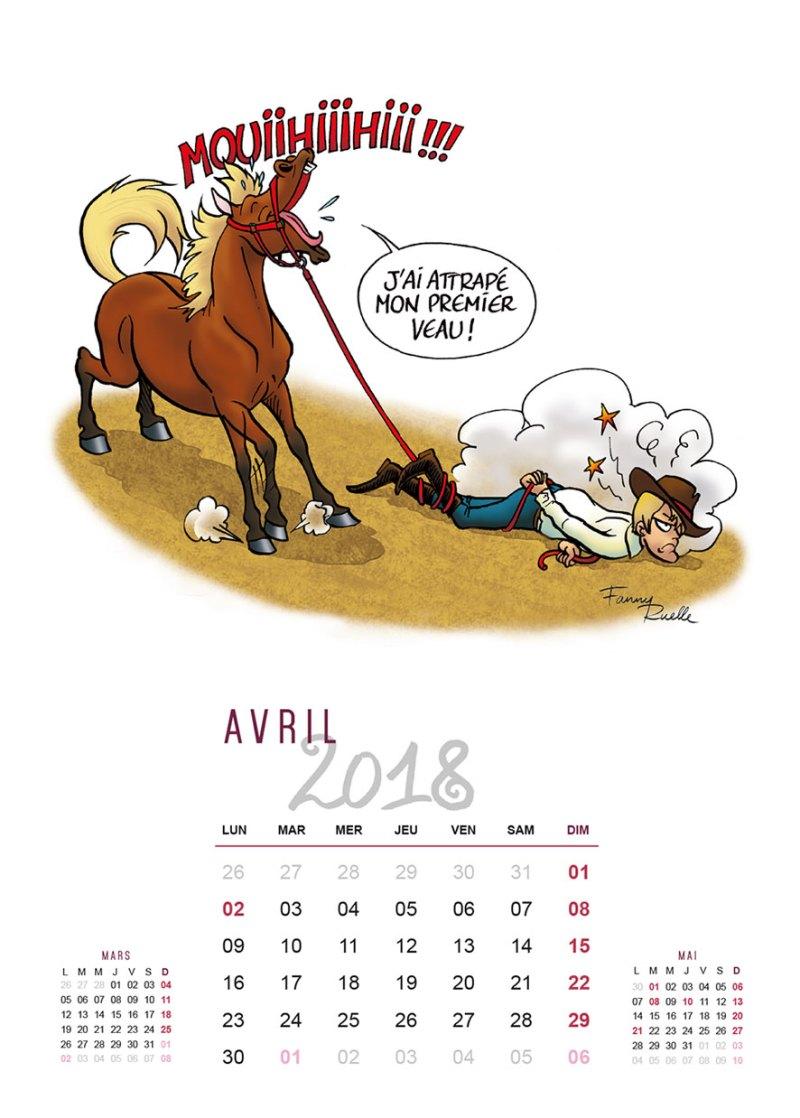 "www.pegasebuzz.com | Calendrier ""Chevaux en Folie"" 2018 de Fanny Ruelle"