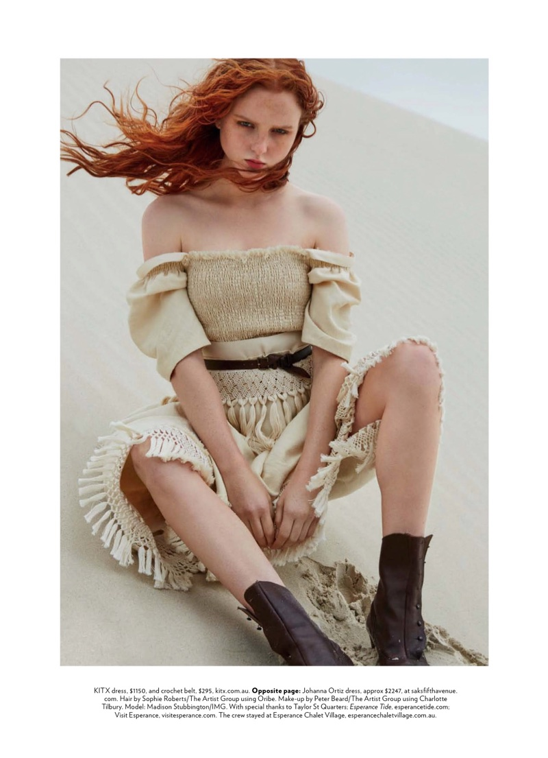 www.pegasebuzz.com | Madison Stubbington by Simon Upton for Marie-Claire Australia, march 2018
