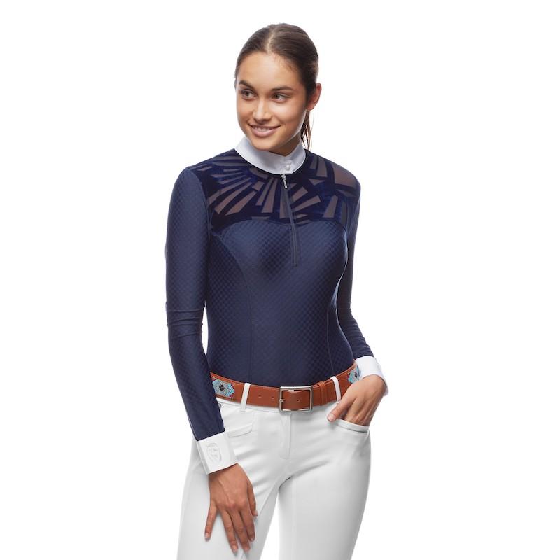 www.pegasebuzz.com | Equestrian Fashion : competition shirt Sorrento by EMCEE Apparel.