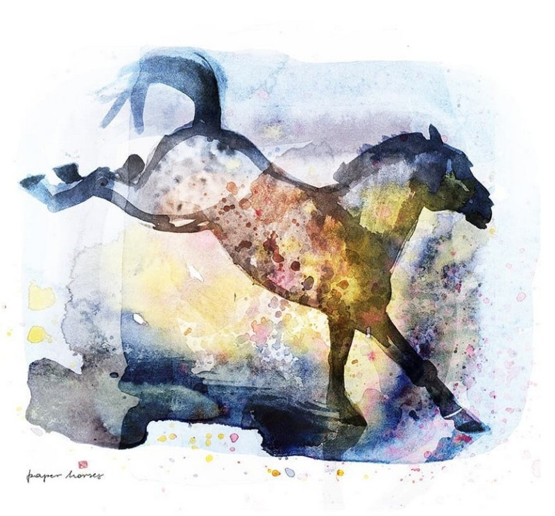 www.pegasebuzz.com   Horse illustration : Paper Horses by Kasia Dippel.