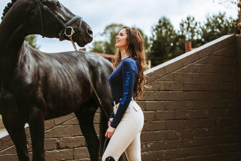 www.pegasebuzz.com   Black Heart Equestrian legging and breech.